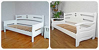 """Белая кровать из серии """"Луи Дюпон"""". Массив - сосна, ольха, береза, дуб."""