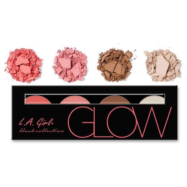 L.A.Girl GBL 571 Beauty Brick Blush Collection Glow - Палитра румян, 4 шт