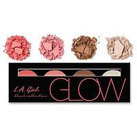L.A.Girl GBL 571 Beauty Brick Blush Collection Glow - Палитра румян, 4 шт, фото 1