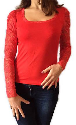 Женская кофта №508 красная, фото 2