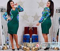 Красивое платье с украшением 50-60рр