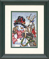 """Набор для вышивания Dimensions """"Снеговик и олень//Snowman & Reindeer"""" 08824"""