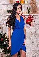 Женское яркое платье платье с голой спинкой по колено