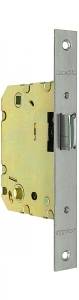 Защелка дверная под фиксатор Armadillo (пластиковый язычок) LH 721-50 SN Мат. никель