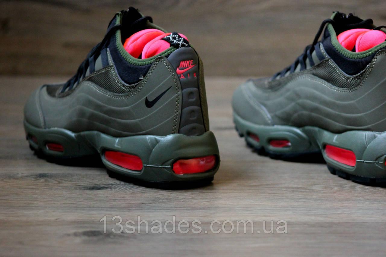 ... фото Кроссовки мужские зимние Nike Air Max SneakerBoot 95 зелёный (  Найк Аир Макс) ... eefb1503fd1