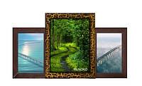Деревянный коллаж «Пьедестал почета» на 3 фото