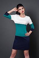 Цветное модное трикотажное молодежное платье