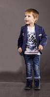 Пиджак трикотажный синий Монализа для мальчика