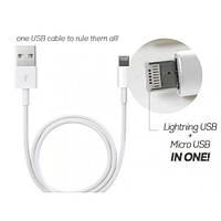 USB шнур для телефона 2 in 1 Lightning and Micro
