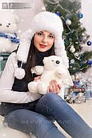 Зимние меховые шапки ушанки женские