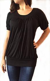 Женская Туника с коротким рукавом черная