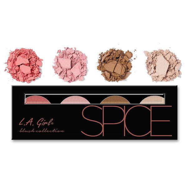 L.A.Girl GBL 573 Beauty Brick Blush Collection Spice - Палитра румян, 4 шт