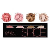 L.A.Girl GBL 573 Beauty Brick Blush Collection Spice - Палитра румян, 4 шт, фото 1