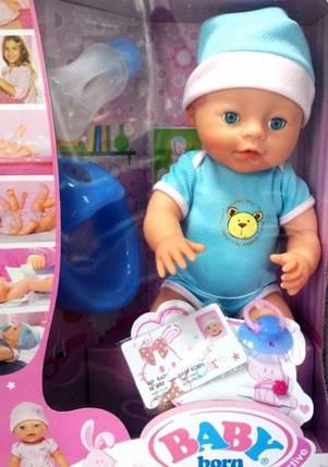 Пупс Baby функциональный, пьет, кушает, писает, купается и многое другое, идеальный подарок для Вашей дочери, фото 2