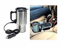 Термокружка автомобильная с подогревом от прикуривателя, фото 1