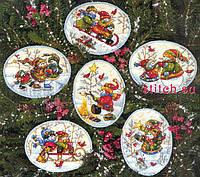 """Набор для вышивания Dimensions """"Рождественские украшения игривый снеговик//Playful Snowmen Ornaments"""" 08828"""