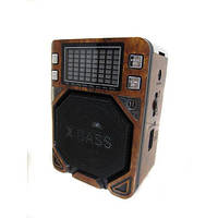Радиоприемник колонка MP3 Golon RX-7000 Rec Wooden