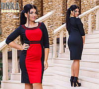 Модное платье с камнями №385.1больших размеров (2 цвета)