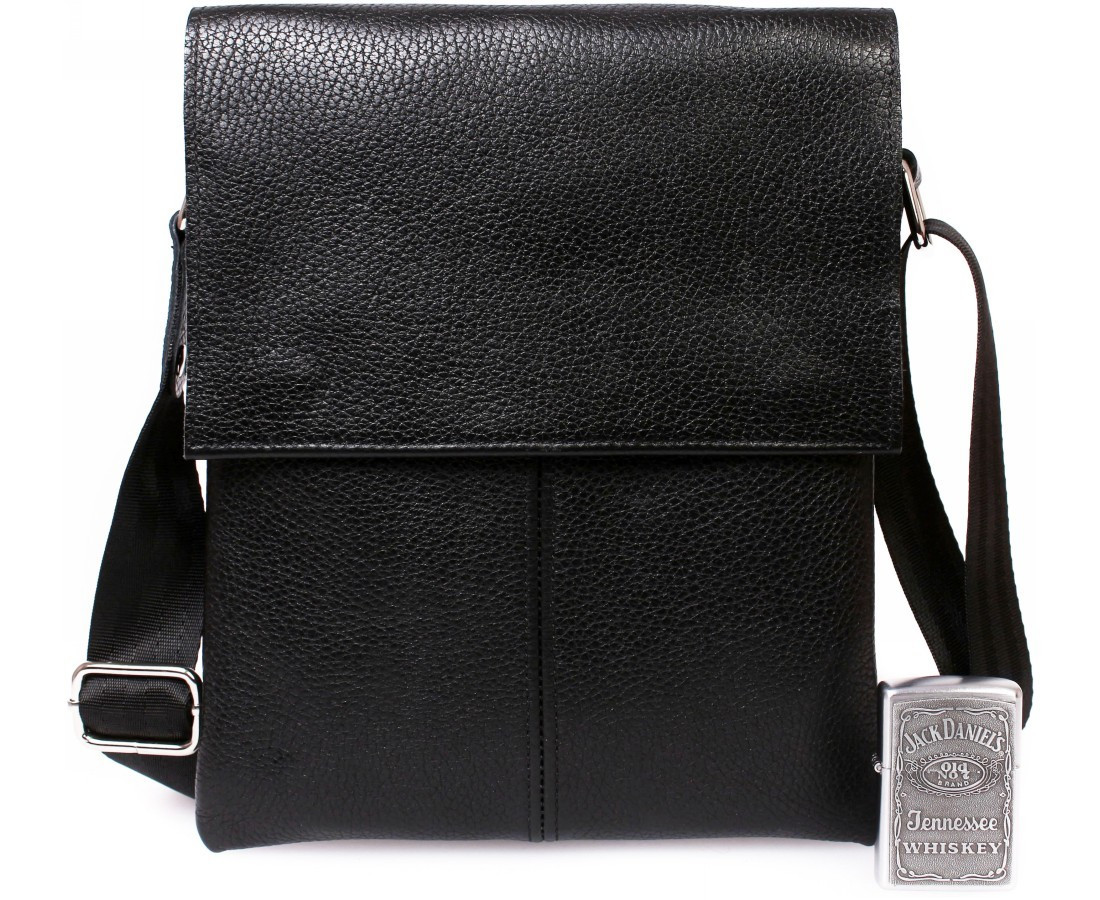 d1e22cacf340 Повседневная мужская кожаная сумка-планшет черная - АксМаркет в Киеве