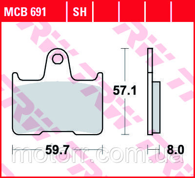 Тормозные колодки TRW / LUCAS MCB691