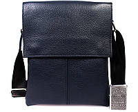 Повседневная мужская кожаная сумка-планшет синяя