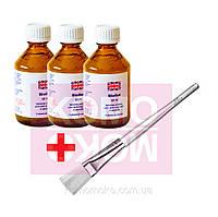 Набор 3 геля по 60мл для биопедикюра и маникюра+кисть для нанесения геля