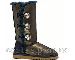 "Женские сапоги UGG Bailey Button Triplet ""Bing Blue Gold"""