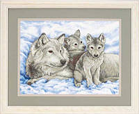 "Набор для вышивания Dimensions ""Волчица и волчата//Mother Wolf and Pups"" 13130"