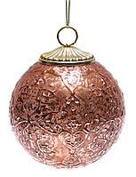 """Елочные стеклянные шары """"Медь"""", 8 см, 6 штуки"""