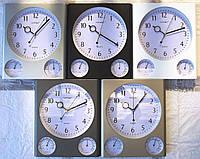 Часы настенные GOTIME GD-315  Гигрометр, Термометр плавный ход
