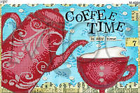 """Схема для вышивки бисером """"Время для кофе"""""""