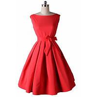 DT-1568 Красное Миди Платье Стиль New Look