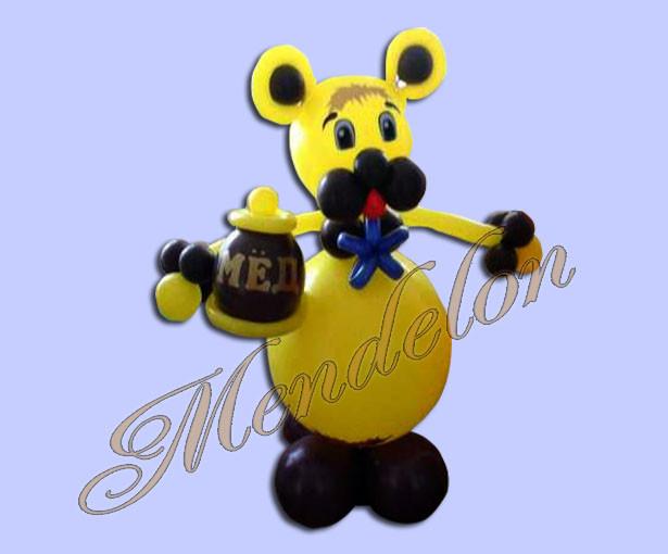Винни Пух из шаров с медом - купить/заказать в компании ...