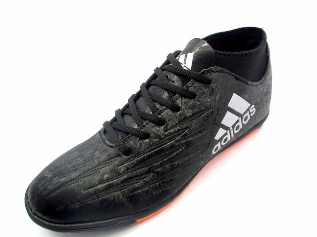 Футбольные сороконожки adidas X 16.3 TF Core Black/White/Solar Orange