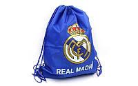 "Сумка (мешок) на шнурках (синий ) ФК ""Реал Мадрид  """