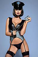 Женское эротическое белье костюм Police corset