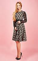 Нежное женское платье с розами Ксения 791-2