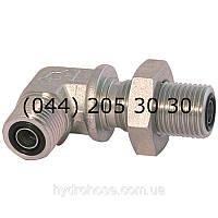 Угловой соединительный фитинг 90°, переборка, ORFS x ORFS, 7706