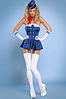 Женское эротическое белье костюм Stewardess corset