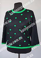 Кофта женская в зеленый горошек