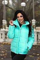 Куртка зима, ткань плащевка, Утеплитель: синтепон 200 черный, синий, электрик, ментол, малиновый опал №9036