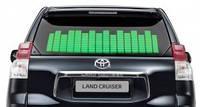 Автомобильный эквалайзер на заднее стекло 70x16см Зеленый
