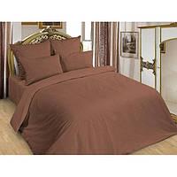 Ткань для постельного белья поплин Шоколад