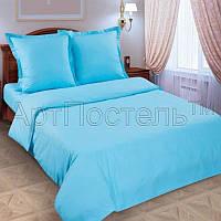 Ткань для постельного поплин Голубой