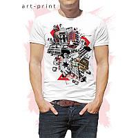 Футболка мужская белая в стиле Pop Art, фото 1