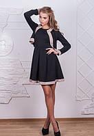 Женский костюм с юбкой двойка плюс жакет черный
