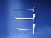 Одинарный крючок с пластиной 200мм на торговую сетку ячейкой 50мм