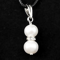 Жемчуг белый Ø10, серебро, кулон, 252КЛЖ
