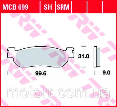 Тормозные колодки TRW / LUCAS MCB699