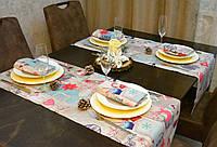 Раннер/дорожка и салфетки (2 шт.+4 шт.) для стола Новогодний Адамс Набор текстильный на кухню №1